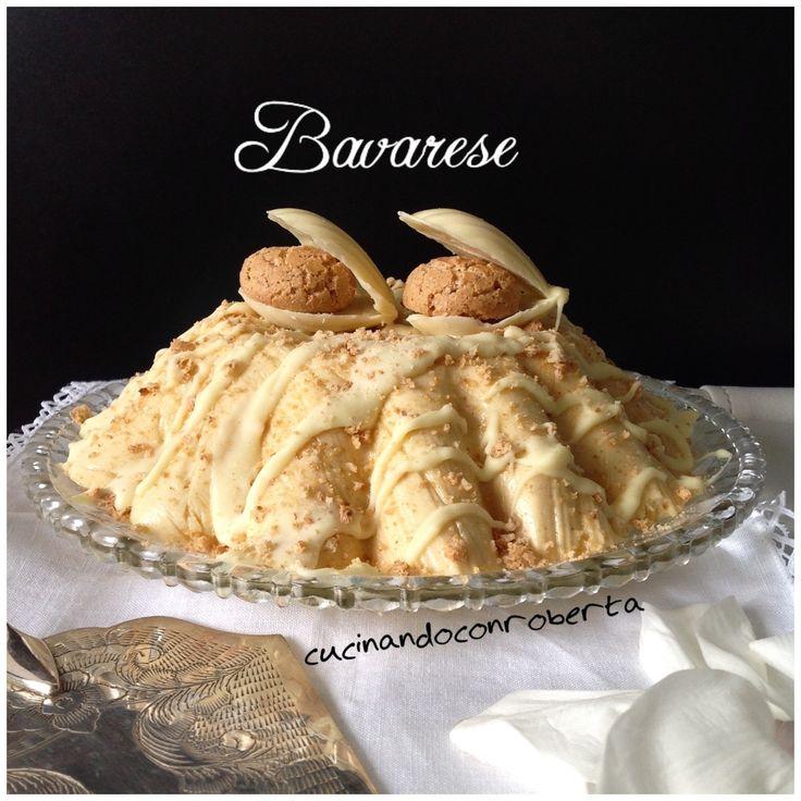 Bavarese con amaretti e cioccolato bianco