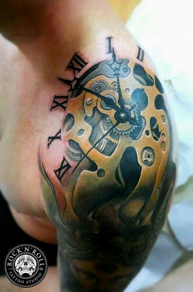 Rock N Roll Tattoo Ideas: Bio-Mech Tattoo By Peter Tattooer At Rock N' Roll Tattoo