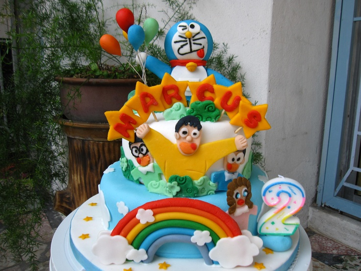 Doraemon Birthday Cake Images : Doraemon Birthday Cake Fondant Figurines Pinterest ...