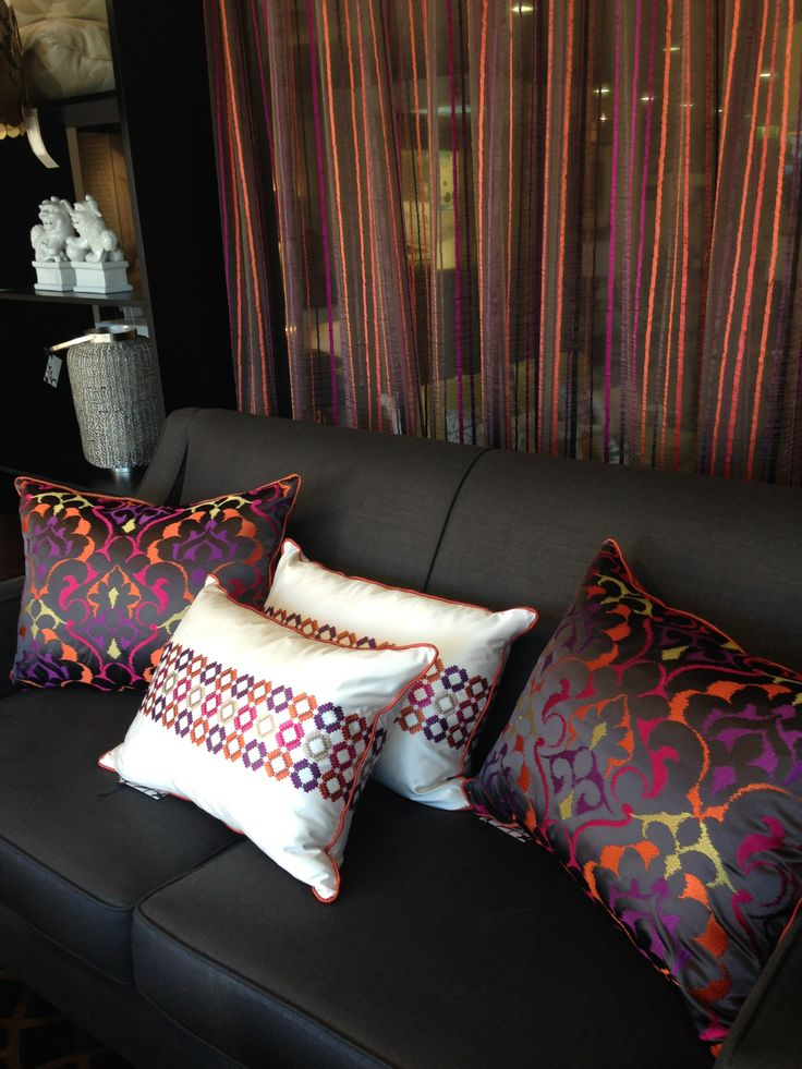 Lounge, cushions and curtains...