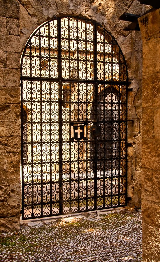 Gate to the Knight's Templar hospital, Rhodes Island, Greece