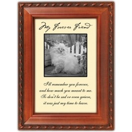 "Our pets are our forever friends, and this picture frame is a perfect way to remember your beloved cat.      A touching verse:     ""I'll remember you forever, and how much you meant to me.   So don't be sad or even grieve, it was just my time to leave.""    $16.99"