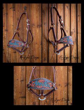 Hooligan Designs - custom bronc halter