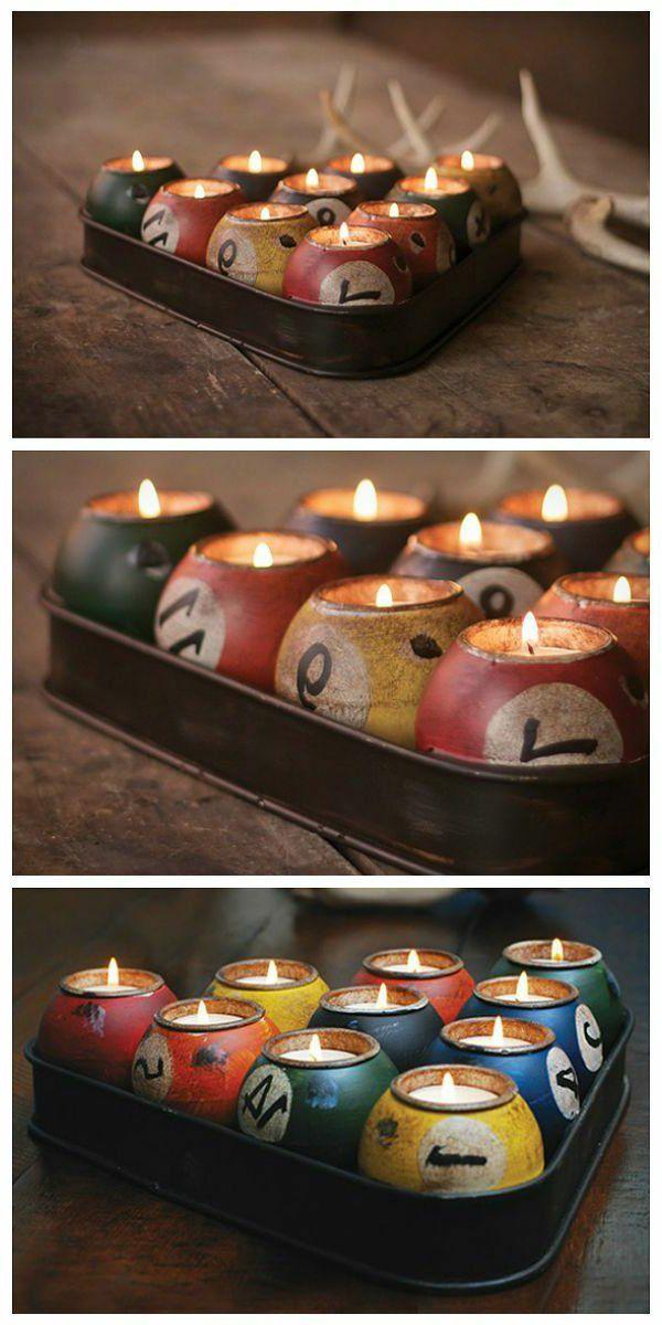 Bougies boules de billard - inspiration pour votre déco