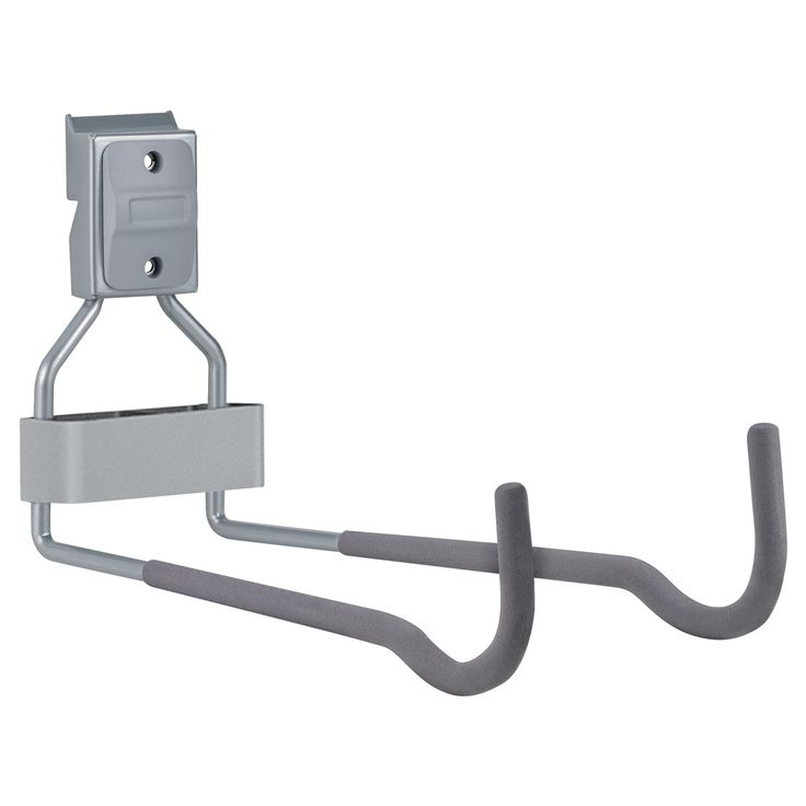 Use the Allspace Horizontal Bike Rack and Ladder Hook to store your bike or ladder in a garage or utility room. It snaps into any Allspace Utility Track or mounts directly into a wall using the includ