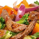 Een heerlijk recept: Biefstuk met groenten in oestersaus