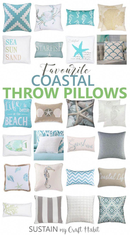 Chicago Home Decor Magazines Coastal Throw Pillows Beach Theme