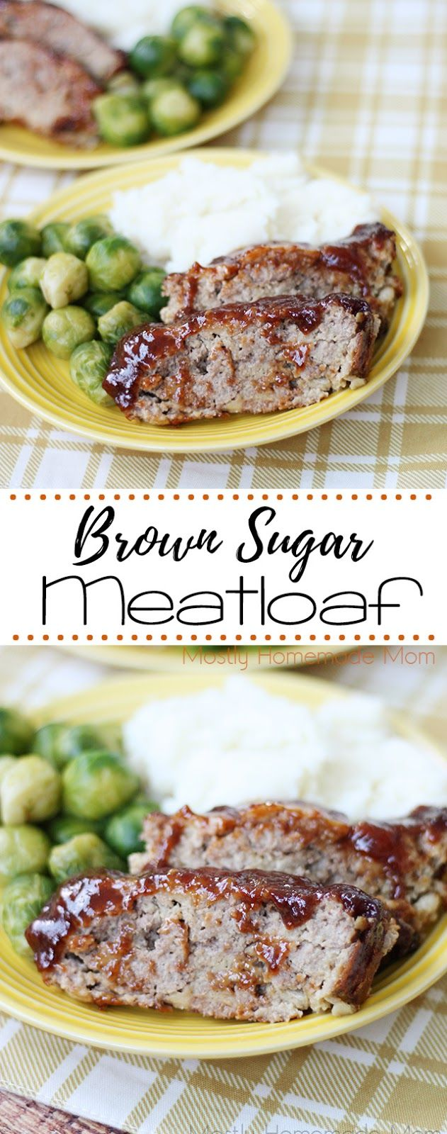 Brown Sugar Meatloaf - the perfect weeknight meal! Classic meatloaf with brown sugar in the glaze - so delicious!