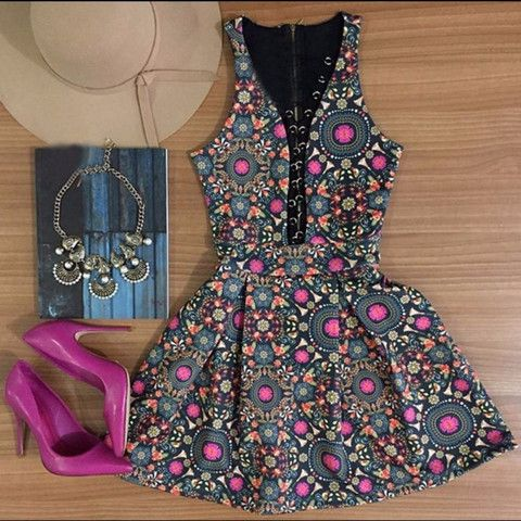 Lace Up Cleavage Women Sundress Mini Dress   Daisy Dress for Less   Women's Dresses & Accessories
