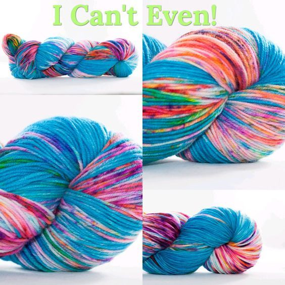 I Cant Even! (inspired by my favorite podcast the Grocery Girls) - rainbow of colors  SUPERFINE FINGERING YARN - This soft, bouncy and springy yarn gives amazing stitch definition. It is 100% Superfine Superwash Merino. The cable twist has 8 plies for added durability and strength. It is machine washable but hand-washing keeps your items looking their best. Dry flat.  •Yardage: 350 m/382 yd •Weight: 100 gm/approximately 4 oz •Recommended Knitting Needle Size: US 2-4 •Crochet Hook Size B-E…
