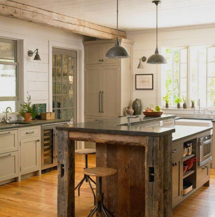 Die besten 25+ Altholz arbeitsplatte Ideen auf Pinterest - küche selber bauen holz