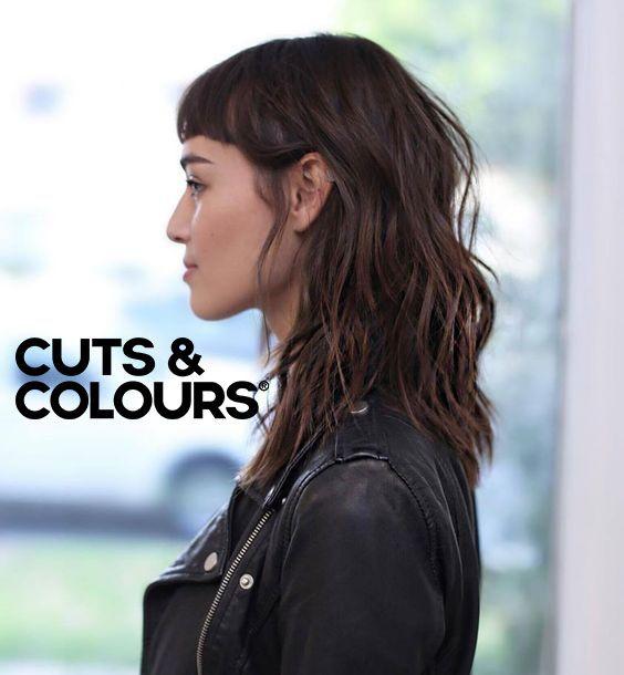 Stoere Look | Halflang haar | Bangs | CUTS & COLOURS