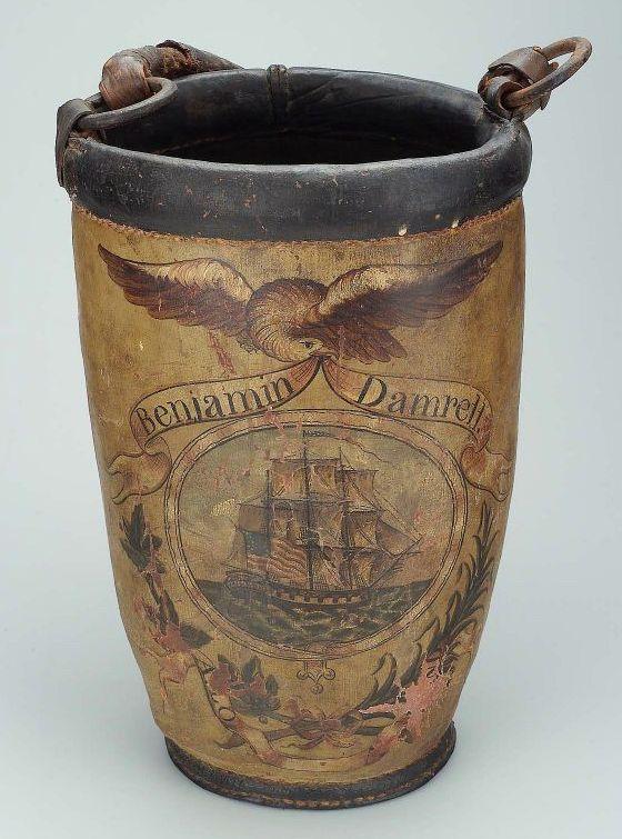 Leather Fire Bucket 1813  Museum of Fine Arts, Boston