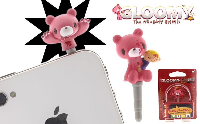 Strapya World : Gloomy Bear Chara-Plug Earphone Jack Accessory! AHH GIVE THIS TO ME