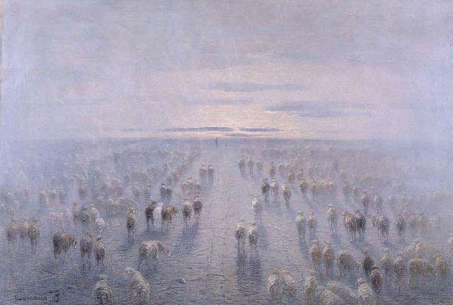 Filippo Carcano, Il gregge o L'Umanità, 1906