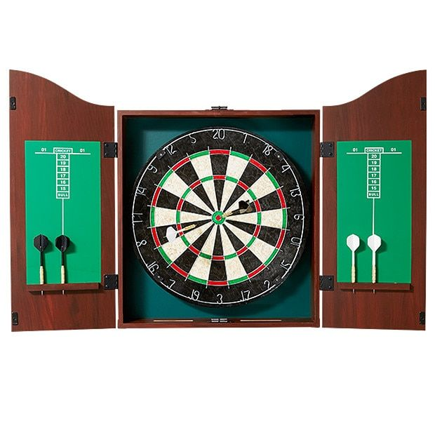 Bristle Dart Board In Cabinet