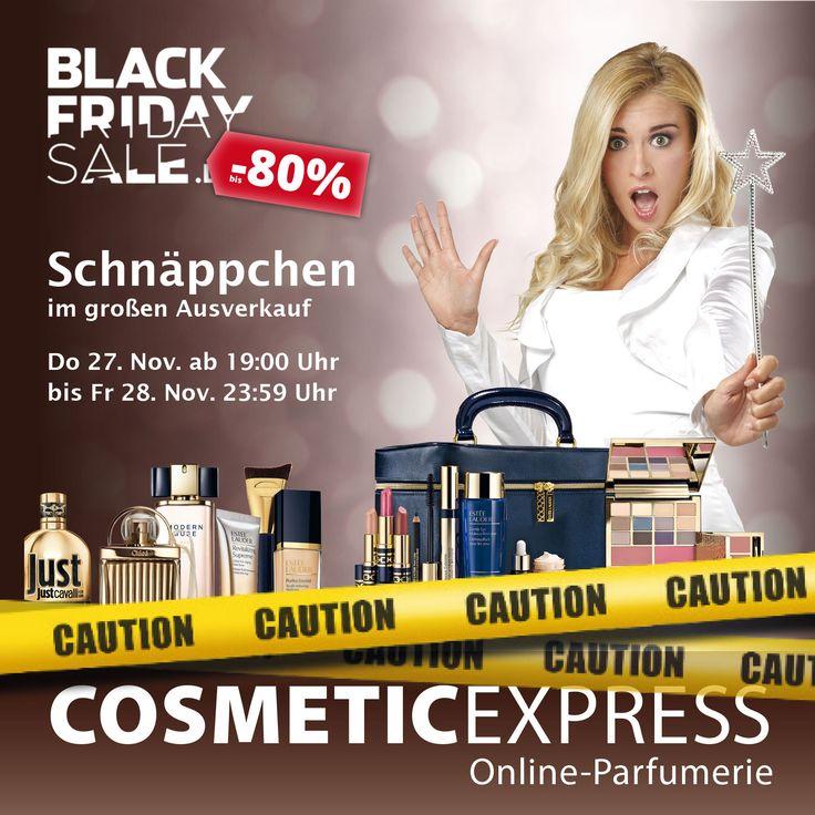 Sei dabei beim großen BLACK FRIDAY Sale!  Viele tolle Schnäppchen und Gutscheine warten in unserem Onlineshop auf dich! --> www.cosmeticexpress.com