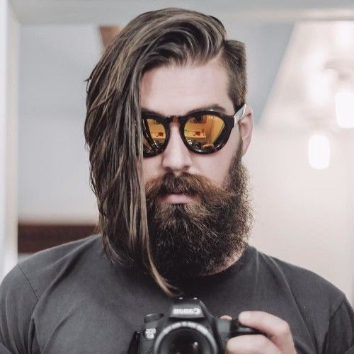 Men's Long Hair With an Undercut and Beard