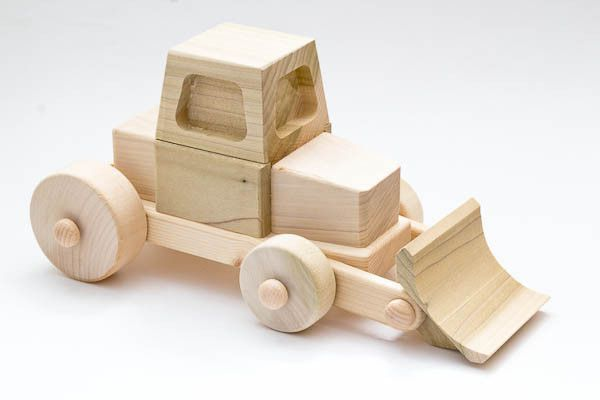 Beautiful handcrafted Wooden Toy Steer Loader – Sped - Eco Wooden Toy from Leonardo Toys Italy (ONLY 39 euro with FREE SHIPPING to the UK, ITALY and soon to the US).