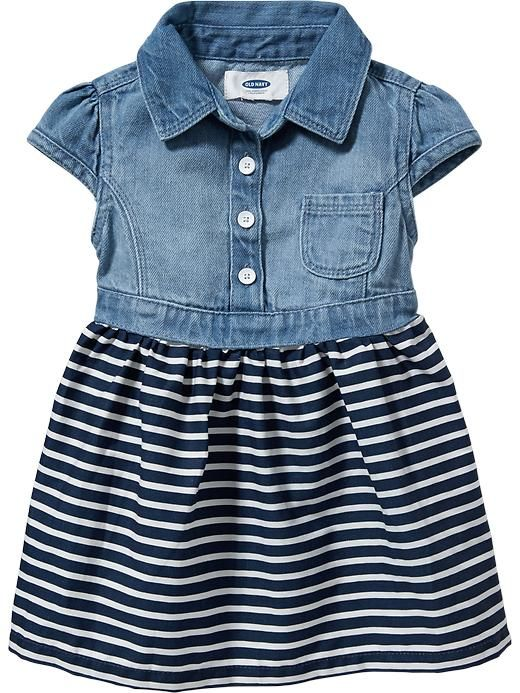 Denim-Top Dresses for Baby Product Image