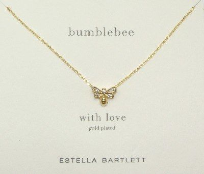 Estella Bartlett Classic Gold-Plated Secret Garden Bee Necklace 7xArcaJz
