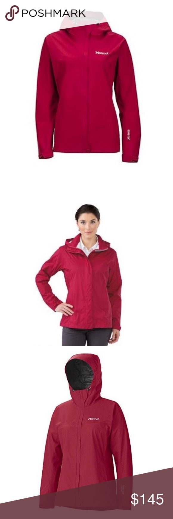 NWT Marmot Minimalist Jacket - Women's M Brand new with tags -- wrong size for me and I can't return it. Dark raspberry color is slightly fuschia (pictures make it look more bright red but actually is closest to first picture). Beautiful color, awesome jacket, never worn! Marmot Jackets & Coats