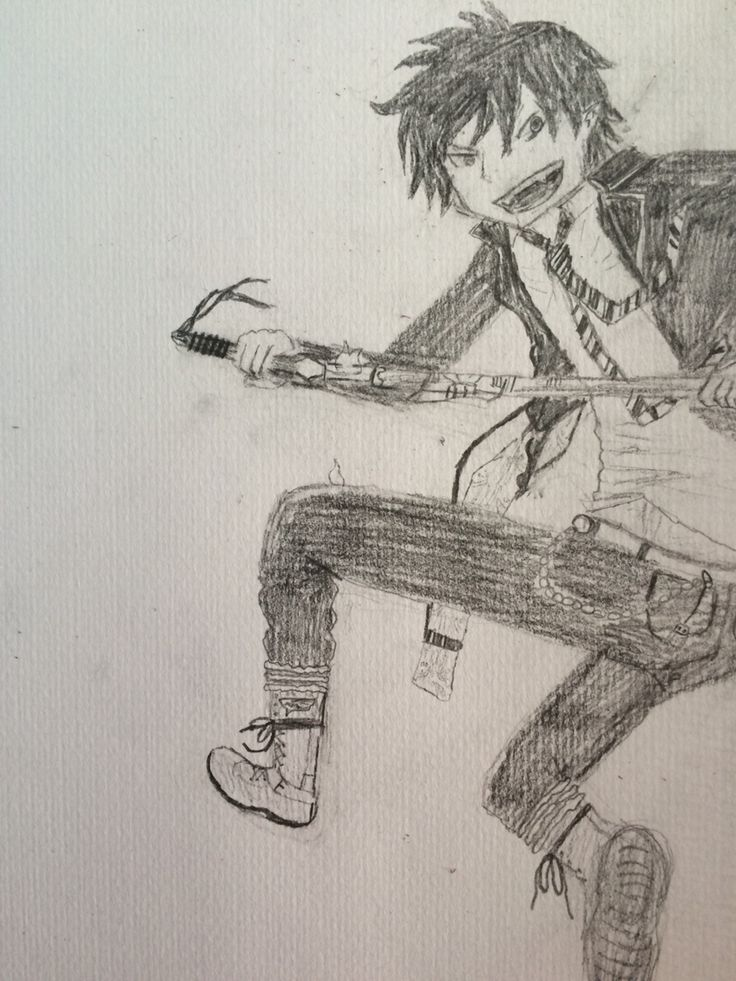 Rin Ao No Exorcist- fan art by me!!!