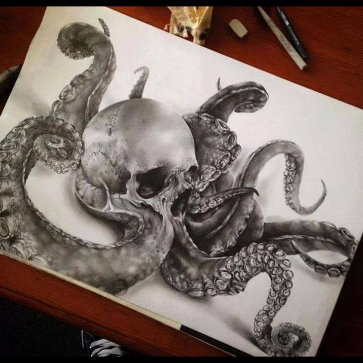 An octopus symbolizes complexity, diversity, mystery, vision, intelligence, illusion, variability and insight. This would be a SICK tattoo!