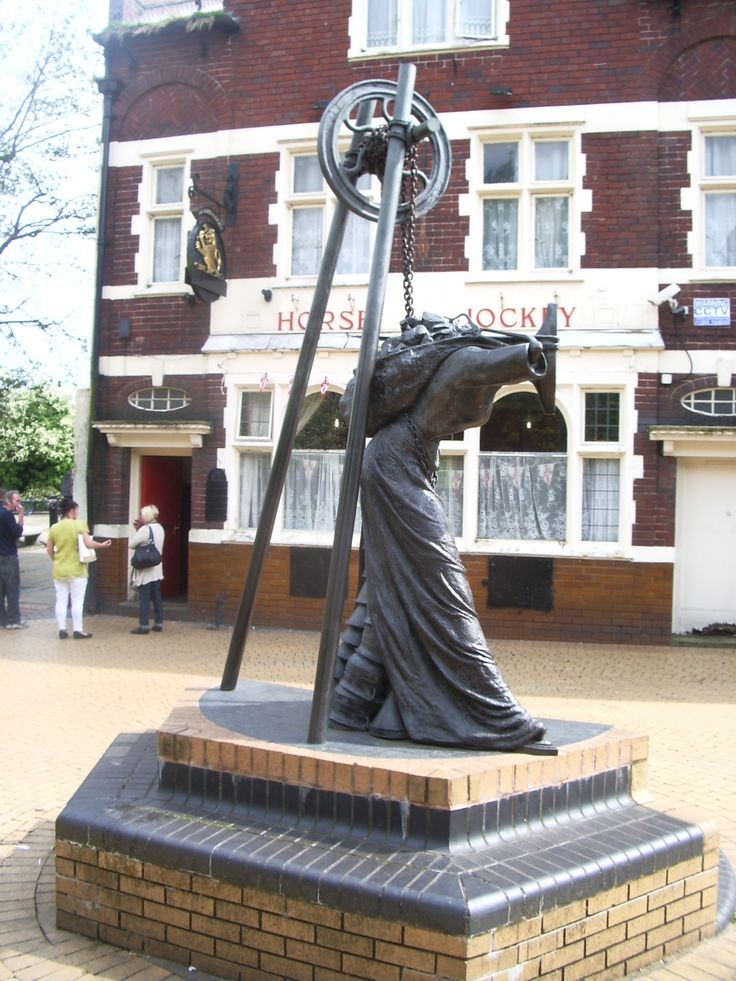 Statue in the town centre, reminding us of the women employed in Bilston's metal trade.