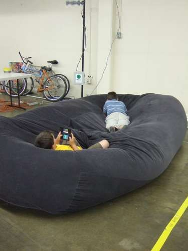 It's time!  I've been waiting to have a real place of my own to make this huge beanbag sofa bed.  Instructibles.com is an amazing site.