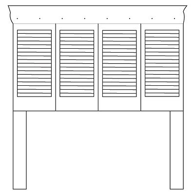 Find some great shutters at Habitat for Humanity ReStore for this headboard project!