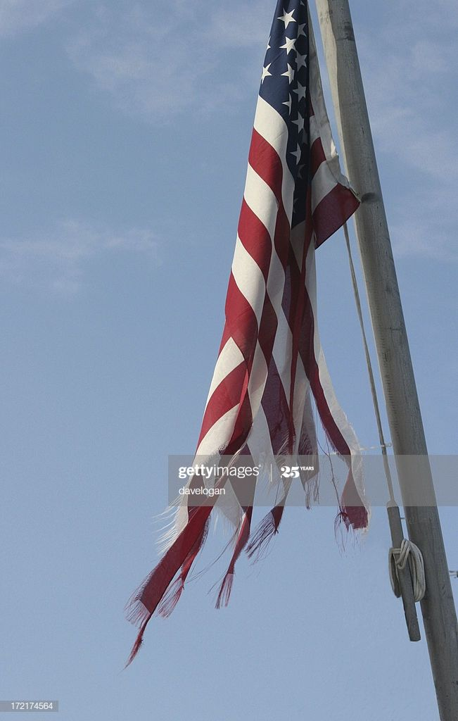 Very Tattered U S Flag Flying On A Ship S Mast In 2020 Ship Mast Tattered Flag