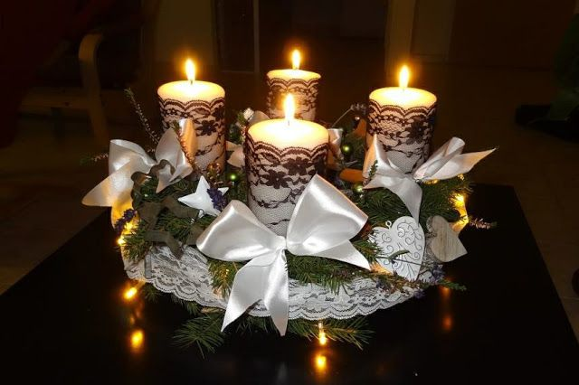 Advent wreath http://www.blog.blankastraka.cz/2015/12/diy-luxusni-adventni-venec.html DIY luxusní adventní věnec | Retro šaty Blanka Straka