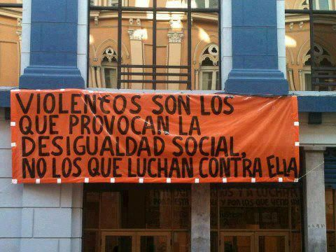 Los violentos son los que provocan la desigualdad social... #justiciaSocial #unmundomejor #resistir