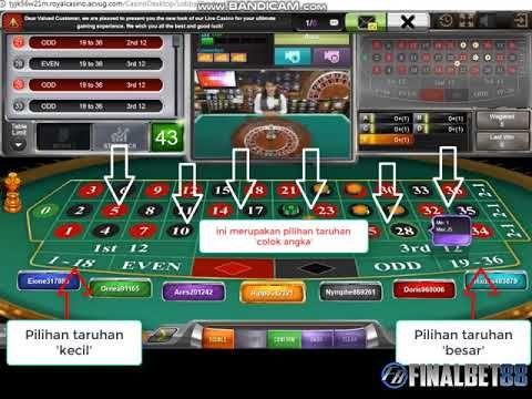 Tutorial Panduan Cara Bermain Live Roulette Sbobet   Finalbet88