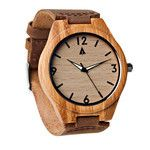 Tree Hut Bamboo Watch | This wooden Tree Hut watch has genuine brown leather bands and is handmade in San Francisco from real wood with available engraving.