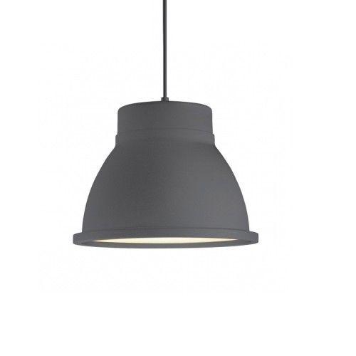 Een zwarte lamp zou mooi staan in een grijze huis