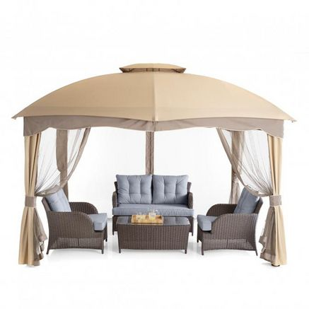 wholeHome®/MD 12 x 10' Umbrella-Roof Style Gazebo