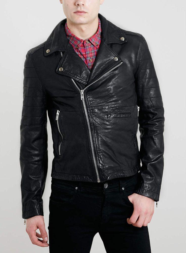 Mens Leather Blazer Jacket Products - Mens Leather Blazer...