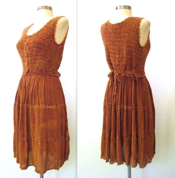 90's Crochet dress