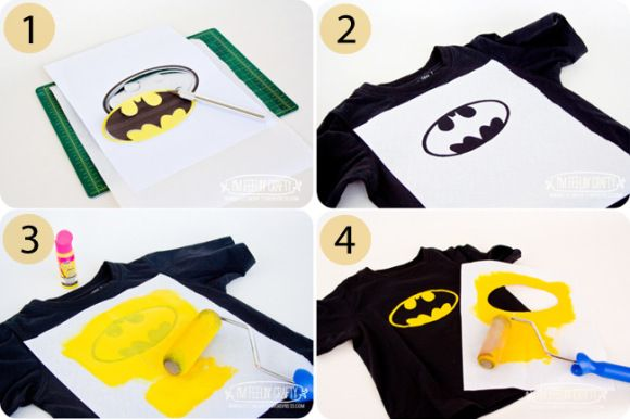 diy batman shirt