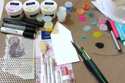Mixed Media House using Gelato® - Faber-Castell Design Memory Craft