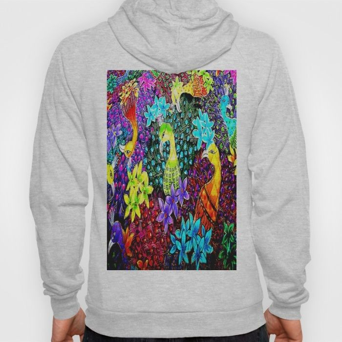 Colored Jungle Birds Hoody @society6 #society6promo #society6 #society6artists #society6art