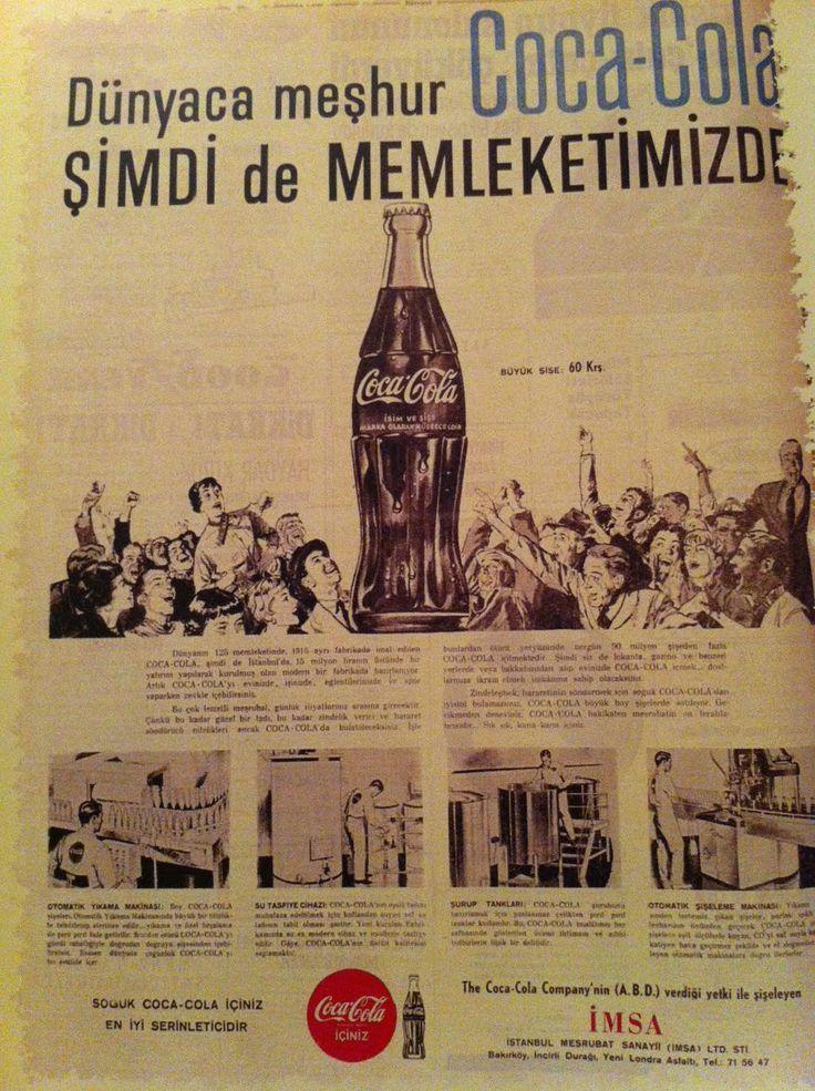 ''Dünyaca meşhur Coca Cola şimdi de memleketimizde!'' #nostalji #reklam #birzamanlar #istanlook