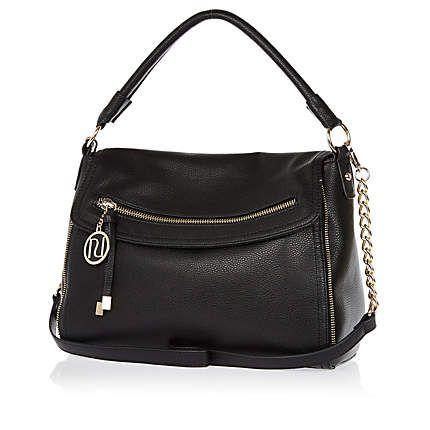 Black fold over slouch bag £25.00