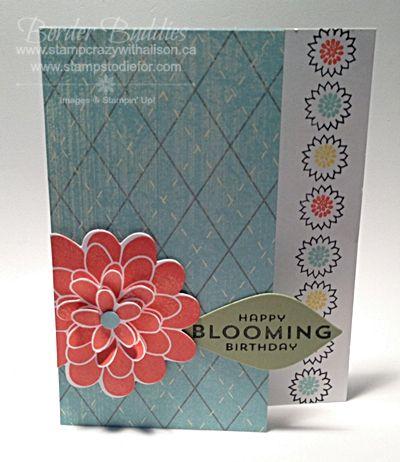 "Flower Patch step up stampin ""Border Buddies""  www.stampstodiefor.com #flowerpatch #stepup #borderbuddies"