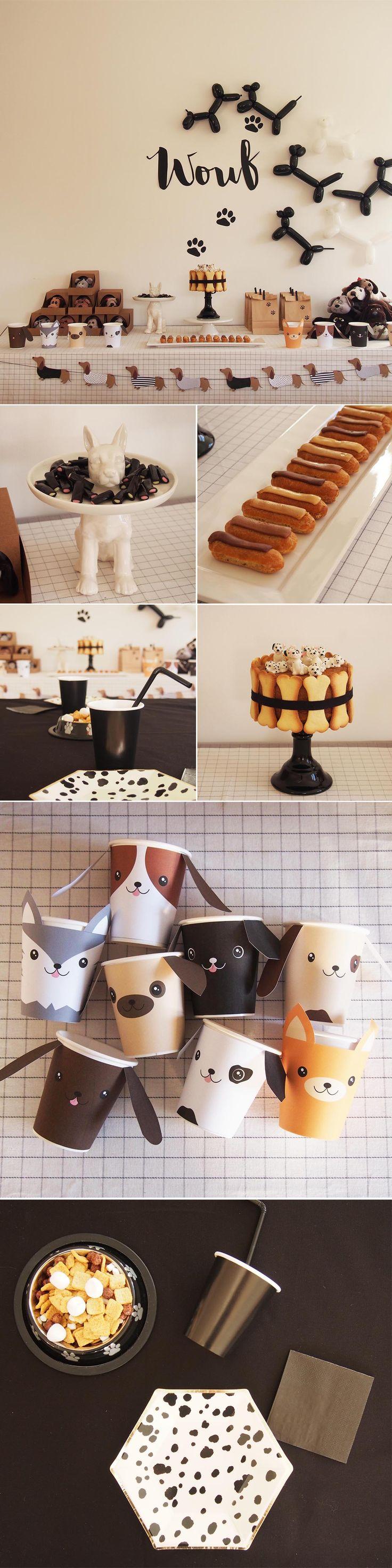 anniversaire theme chien