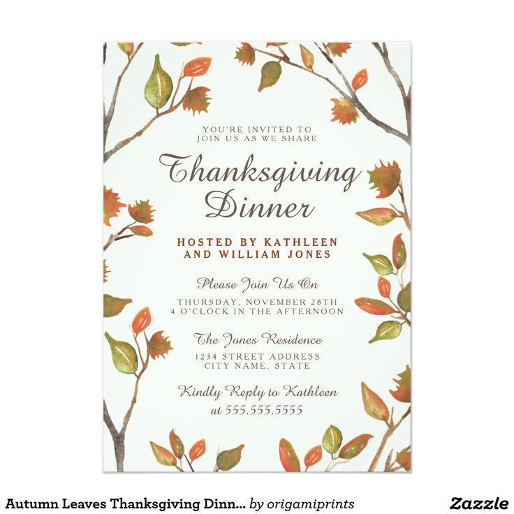26 best Thanksgiving Invitations images on Pinterest ...