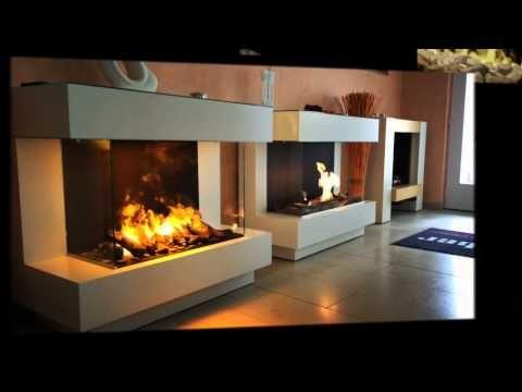 Einbaubeispiel: wall fire electronic Elektro Einbaukamin (Opti-Myst) - YouTube