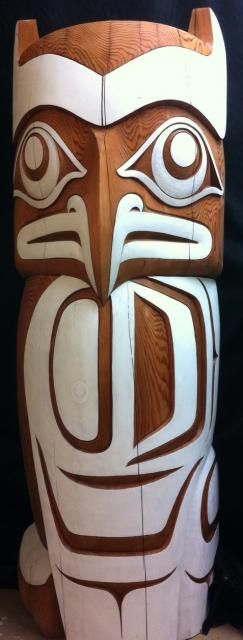 Owl Totem by Salish (First Nations) artist Terry Horne